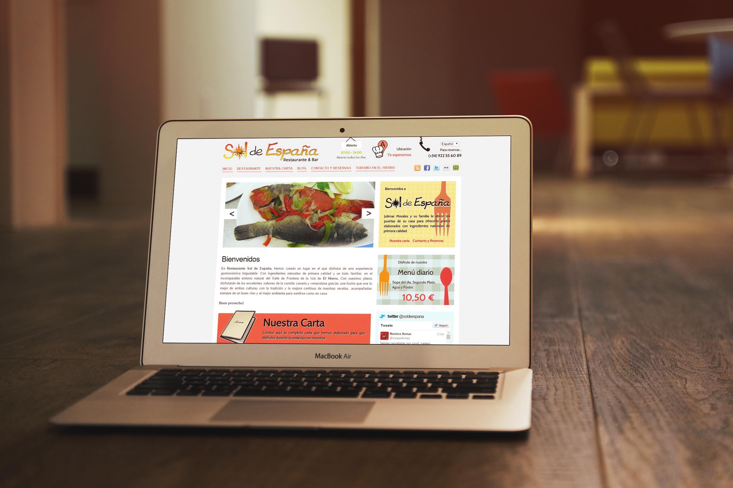 Restaurante Sol de España Web
