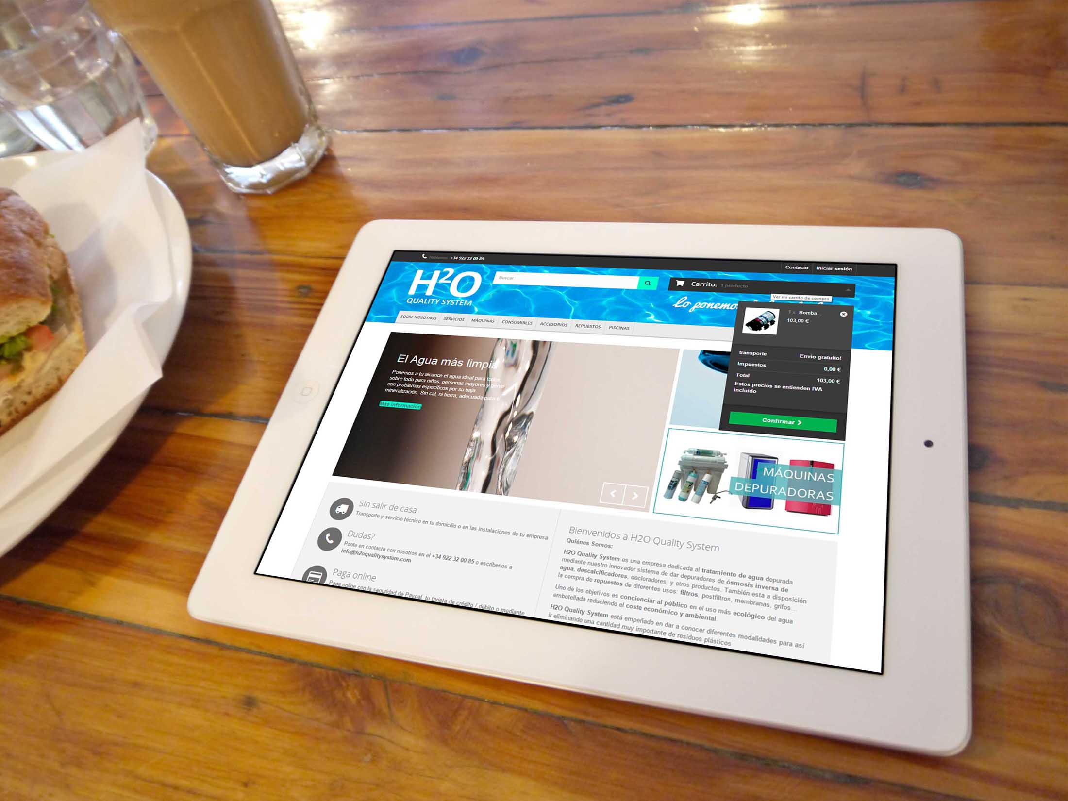 H2O Quality System Ecommerce