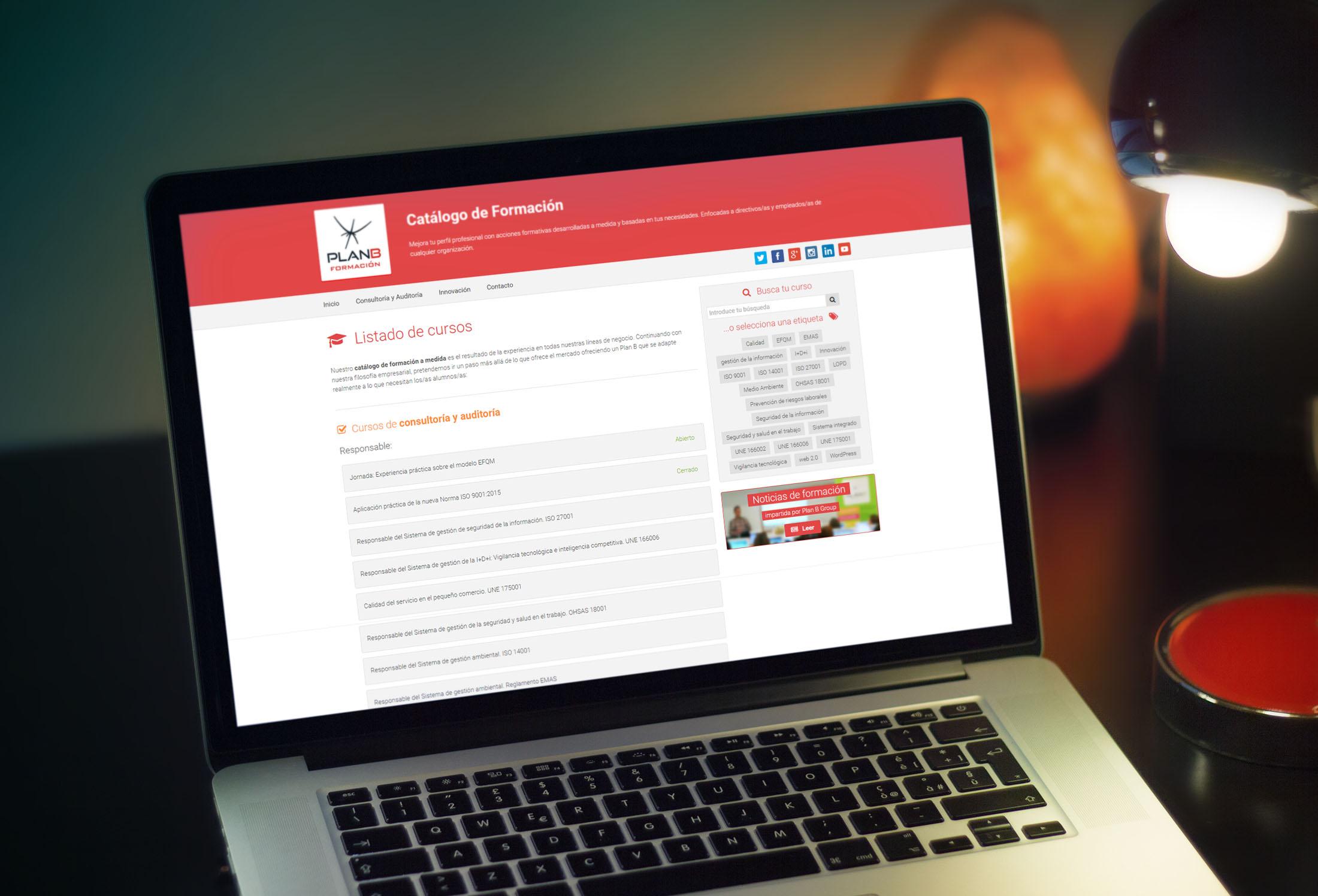 Catálogo de Formación Online de Plan B Group