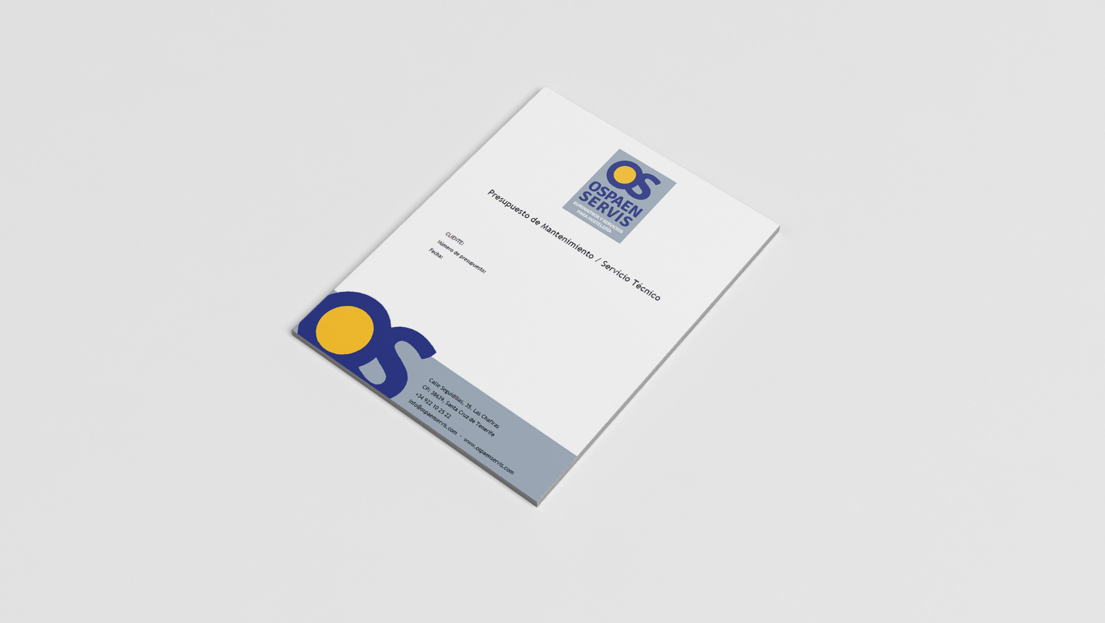 Ospaen Servis. Documento comercial